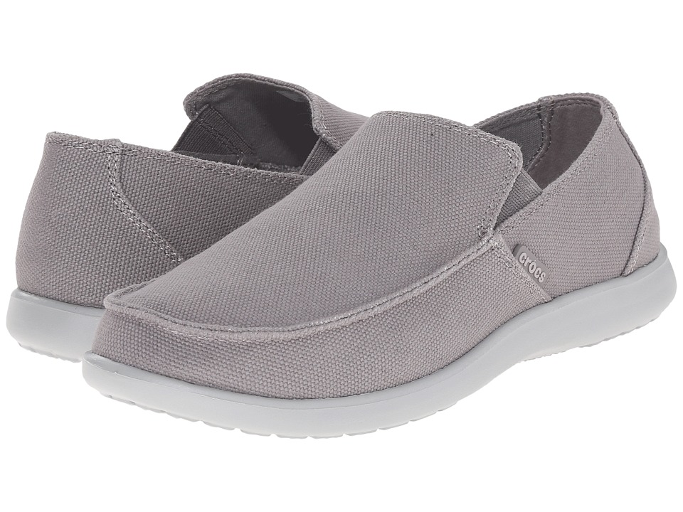 Crocs - Santa Cruz Clean Cut Loafer (Smoke/Light Grey) Men's Slip on Shoes