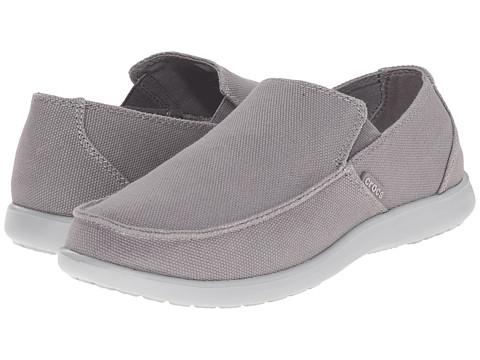 Crocs - Santa Cruz Clean Cut Loafer (Smoke/Light Grey) Men's Slip on Shoes