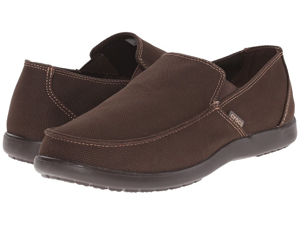 Crocs - Santa Cruz Clean Cut Loafer (Espresso/Espresso) Men's Slip on Shoes