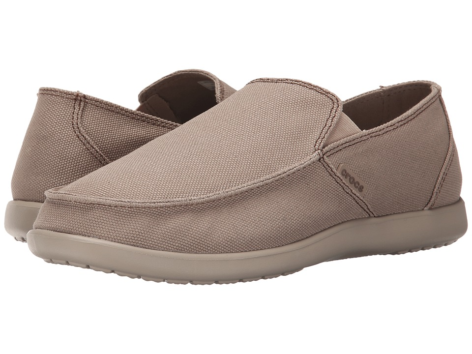 Crocs - Santa Cruz Clean Cut Loafer (Khaki/Cobblestone) Men's Slip on Shoes