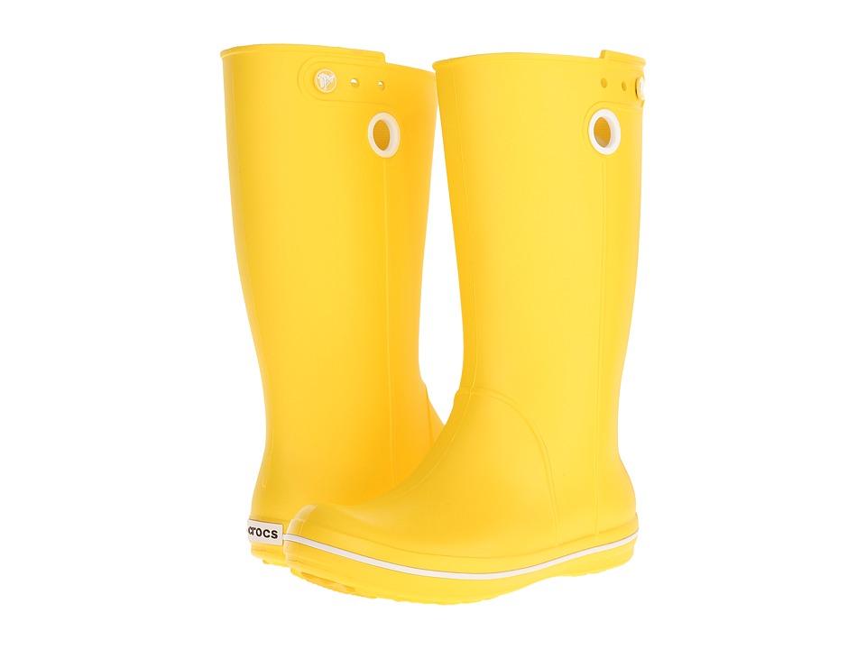 Crocs - Crocband Jaunt (Lemon) Women's Rain Boots