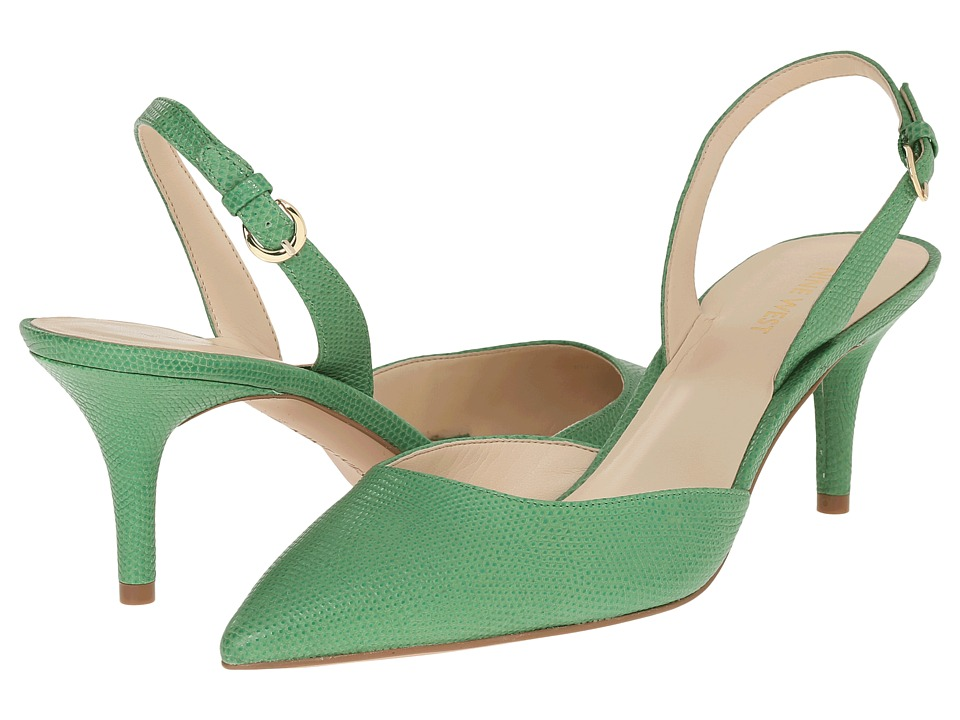 Nine West - Margareth (Green Leather) Women's 1-2 inch heel Shoes