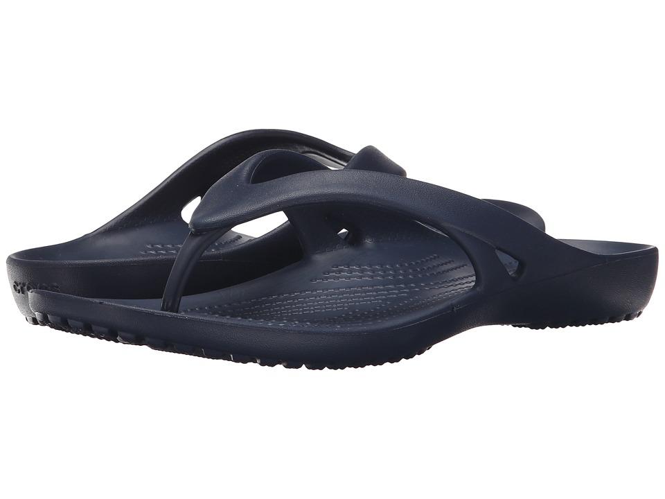 Crocs - Kadee II Flip (Navy) Women's Sandals