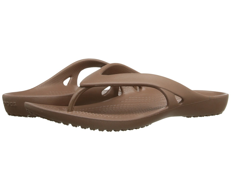 Crocs - Kadee II Flip (Bronze) Women's Sandals