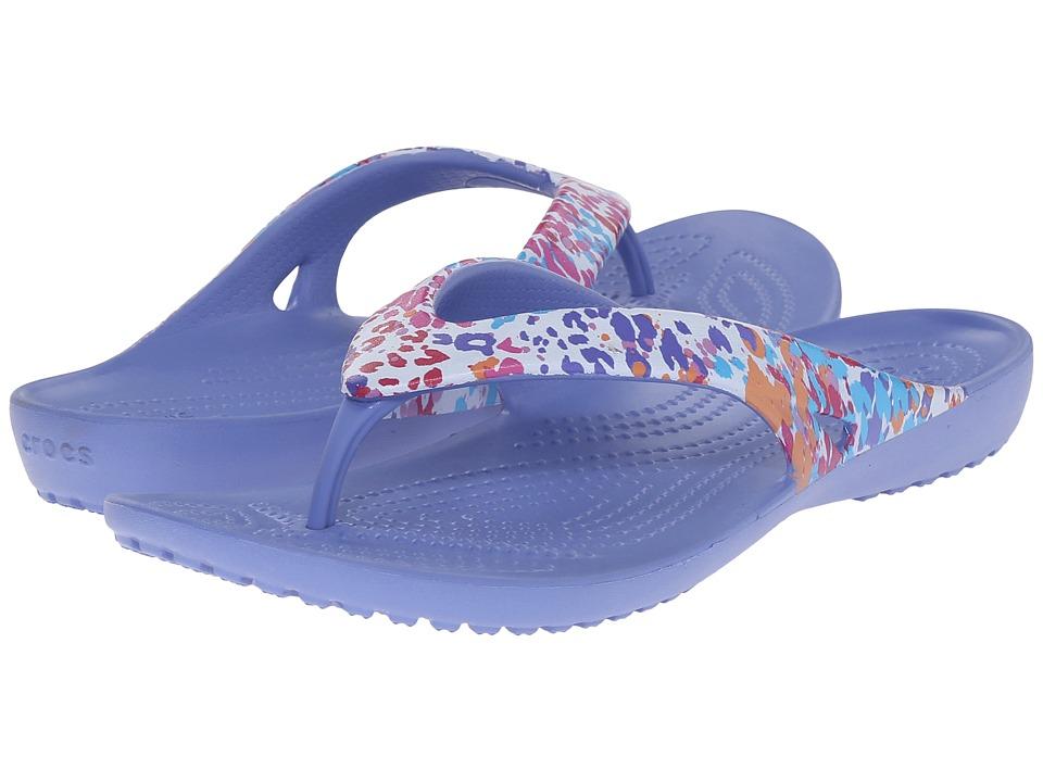 Crocs - Kadee II Floral Flip (Lapis) Women