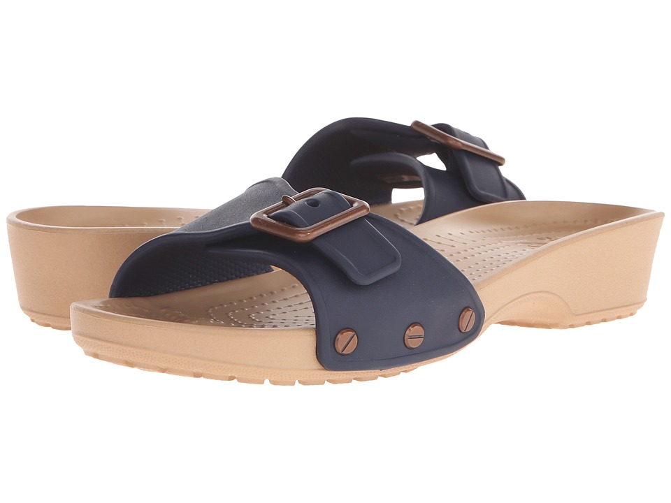 Crocs - Sarah Sandal (Navy/Gold) Women's Sandals