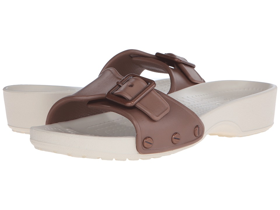 Crocs - Sarah Sandal (Bronze/Stucco) Women's Sandals