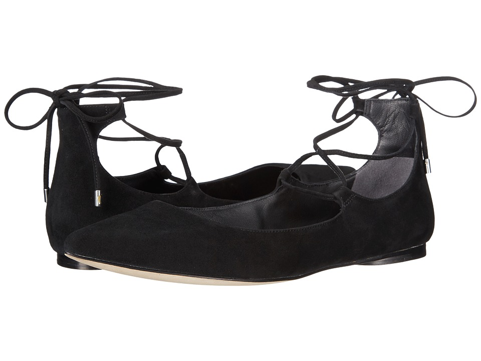Sigerson Morrison - Viata (Black Suede) Women's Flat Shoes