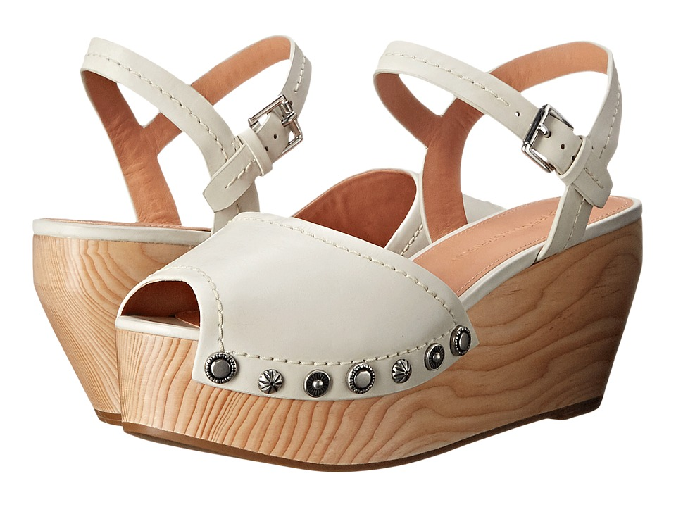 Sigerson Morrison - Cailey (Off-White Leather) Women's Wedge Shoes