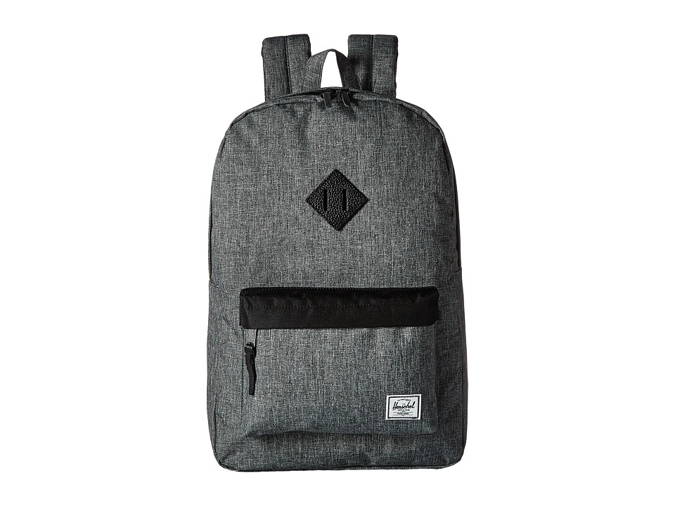 Herschel Supply Co. - Heritage (Raven Crosshatch/Black/Black Leather) Backpack Bags