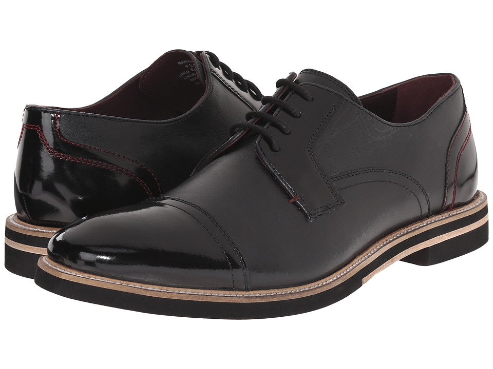 Ted Baker - Braythe 2 (Black Leather) Men's Lace Up Cap Toe Shoes