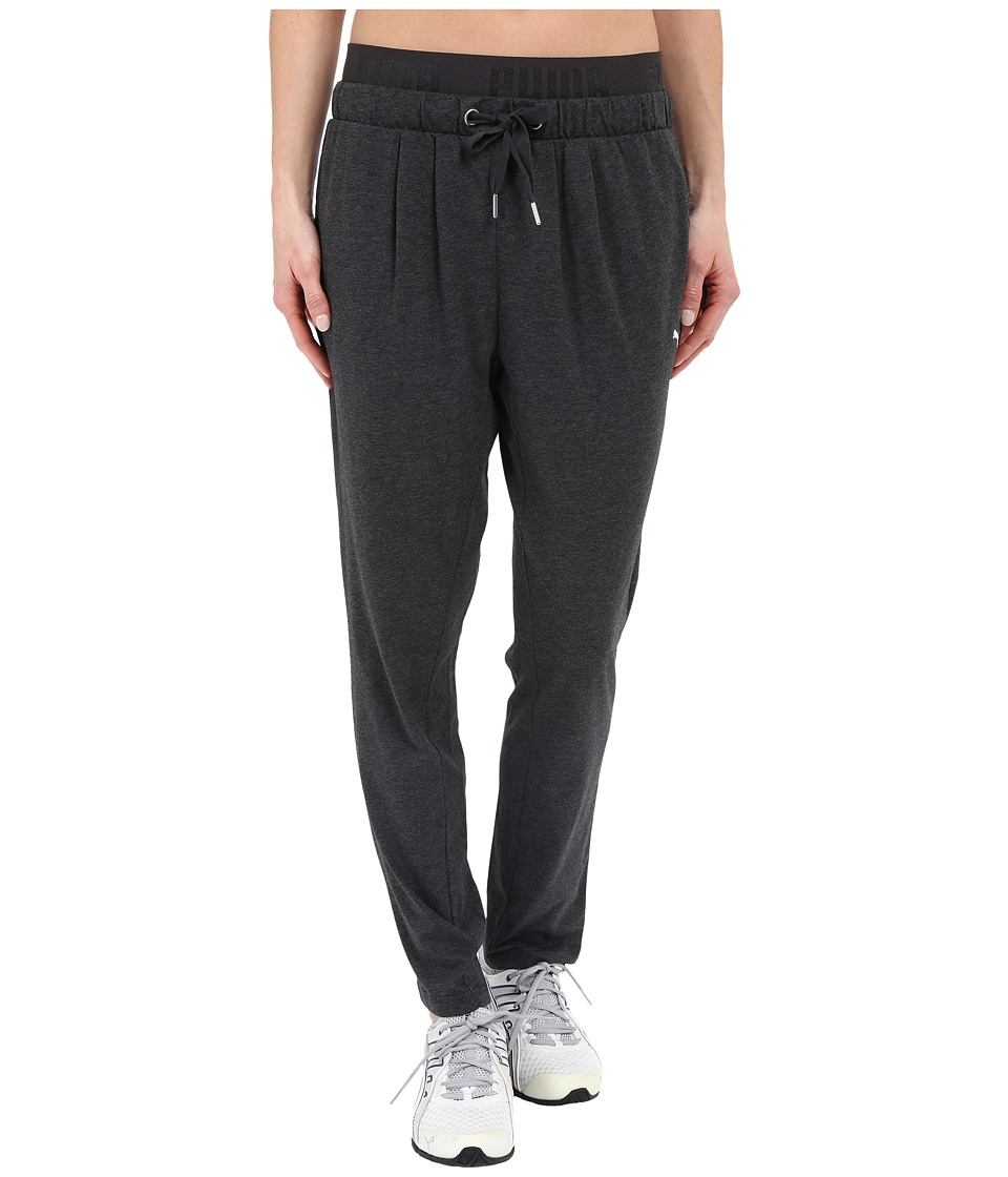 PUMA - Active Forever Jersey Pants (Dark Grey Heather) Women's Clothing