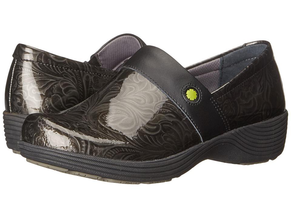 Work Wonders by Dansko - Camellia (Grey Tooled Patent) Women's Clog Shoes
