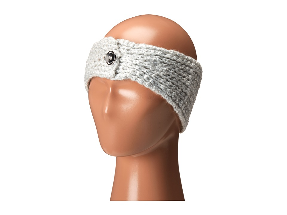 Calvin Klein - Metallic Shaker Stitch Headband (Cr me) Knit Hats