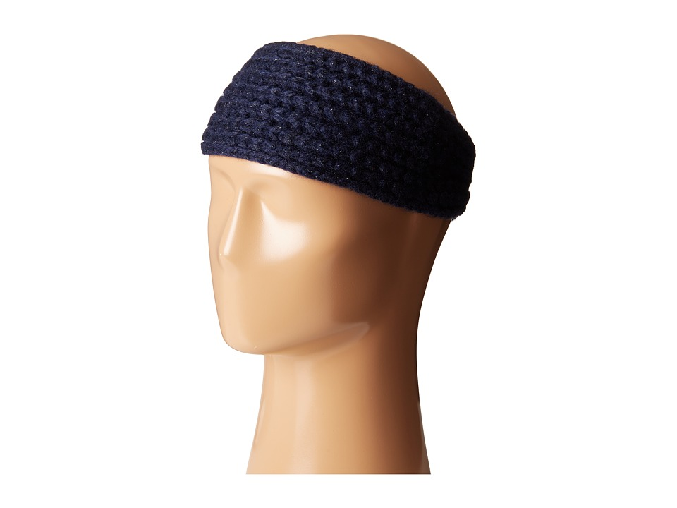 Calvin Klein - Metallic Shaker Stitch Headband (Night) Knit Hats
