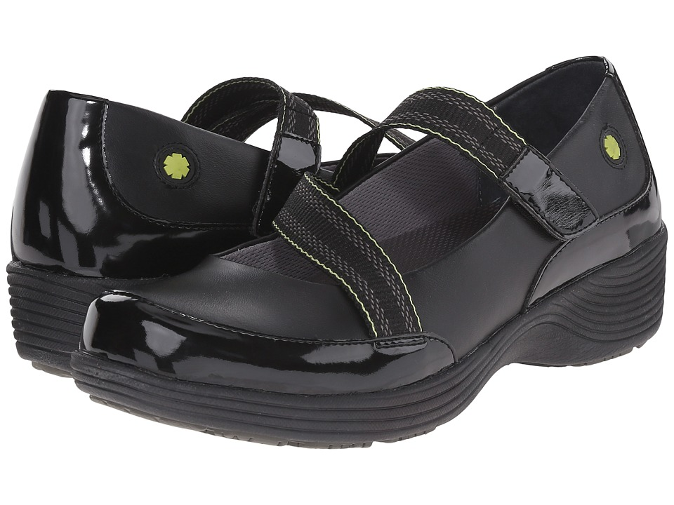 Work Wonders by Dansko - Calypso (Black Leather) Women's Slip on Shoes