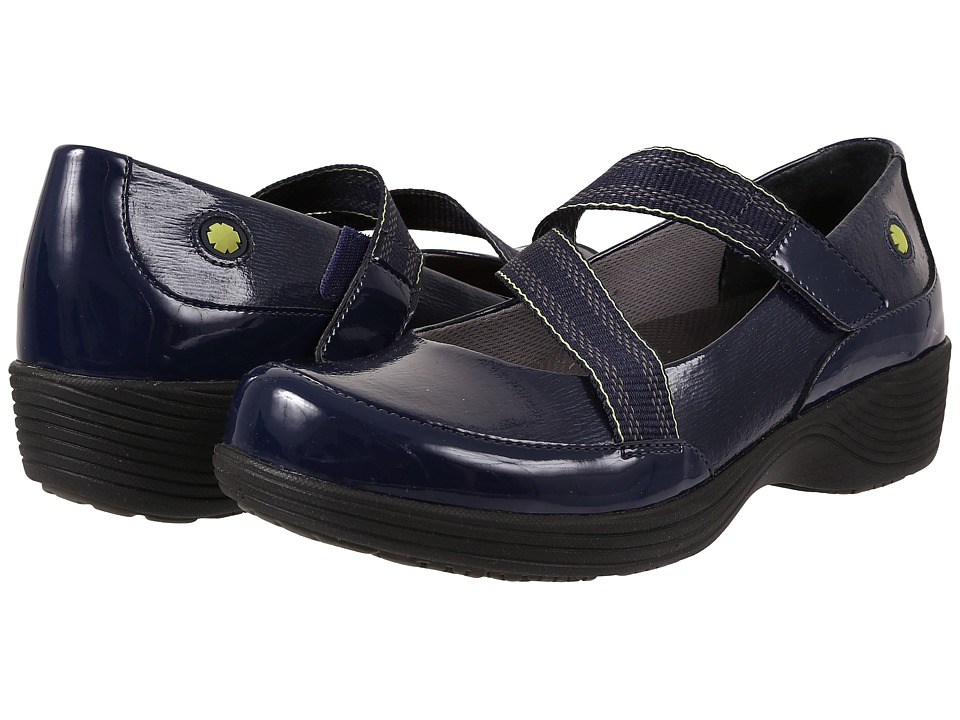 Work Wonders by Dansko - Calypso (Navy Textured Patent) Women's Slip on Shoes