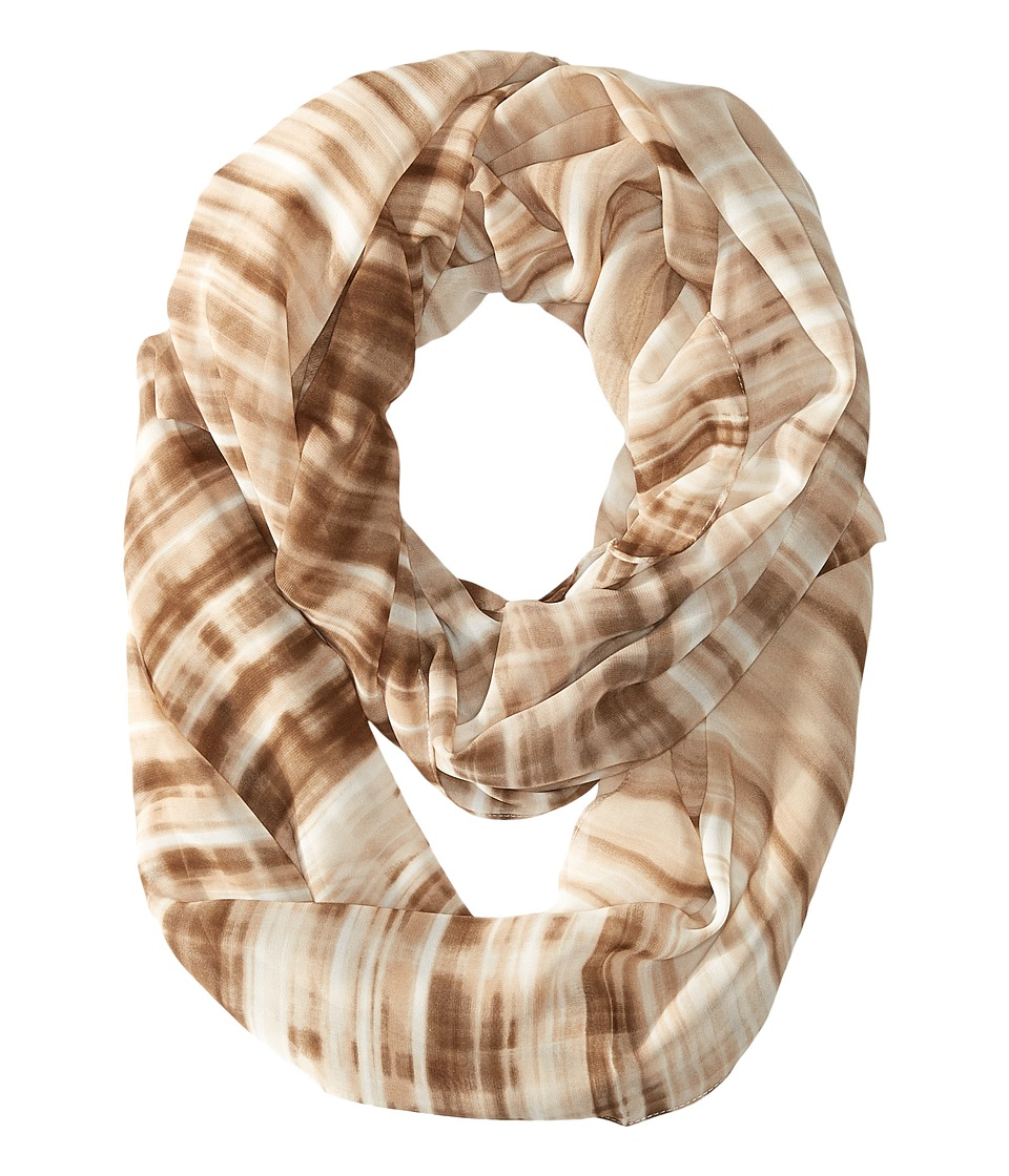 Calvin Klein - Blurred Lines Poly Chiffon Loop (Neutral) Scarves