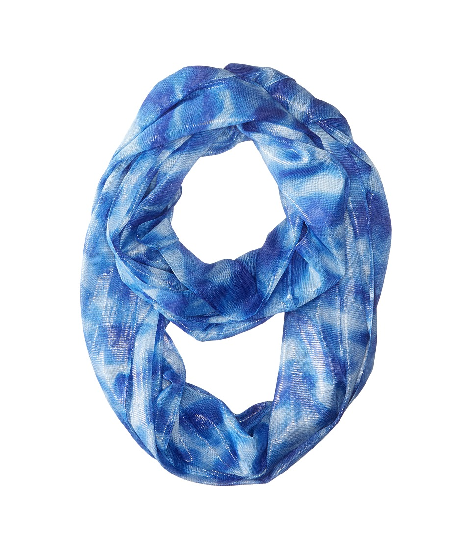 Calvin Klein - Liquid Lurex Waves Infinity (Black 2) Scarves
