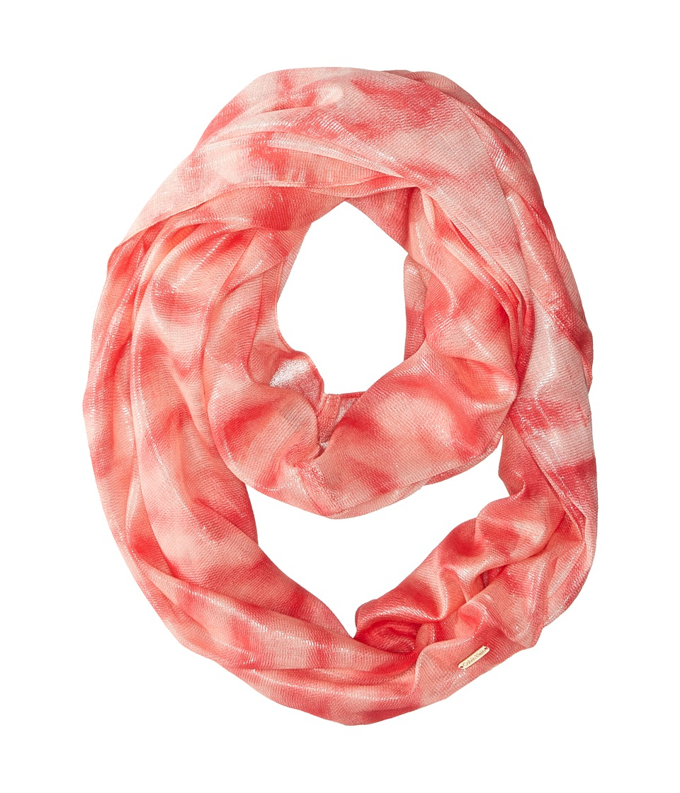 Calvin Klein - Liquid Lurex Waves Infinity (Latte 2) Scarves
