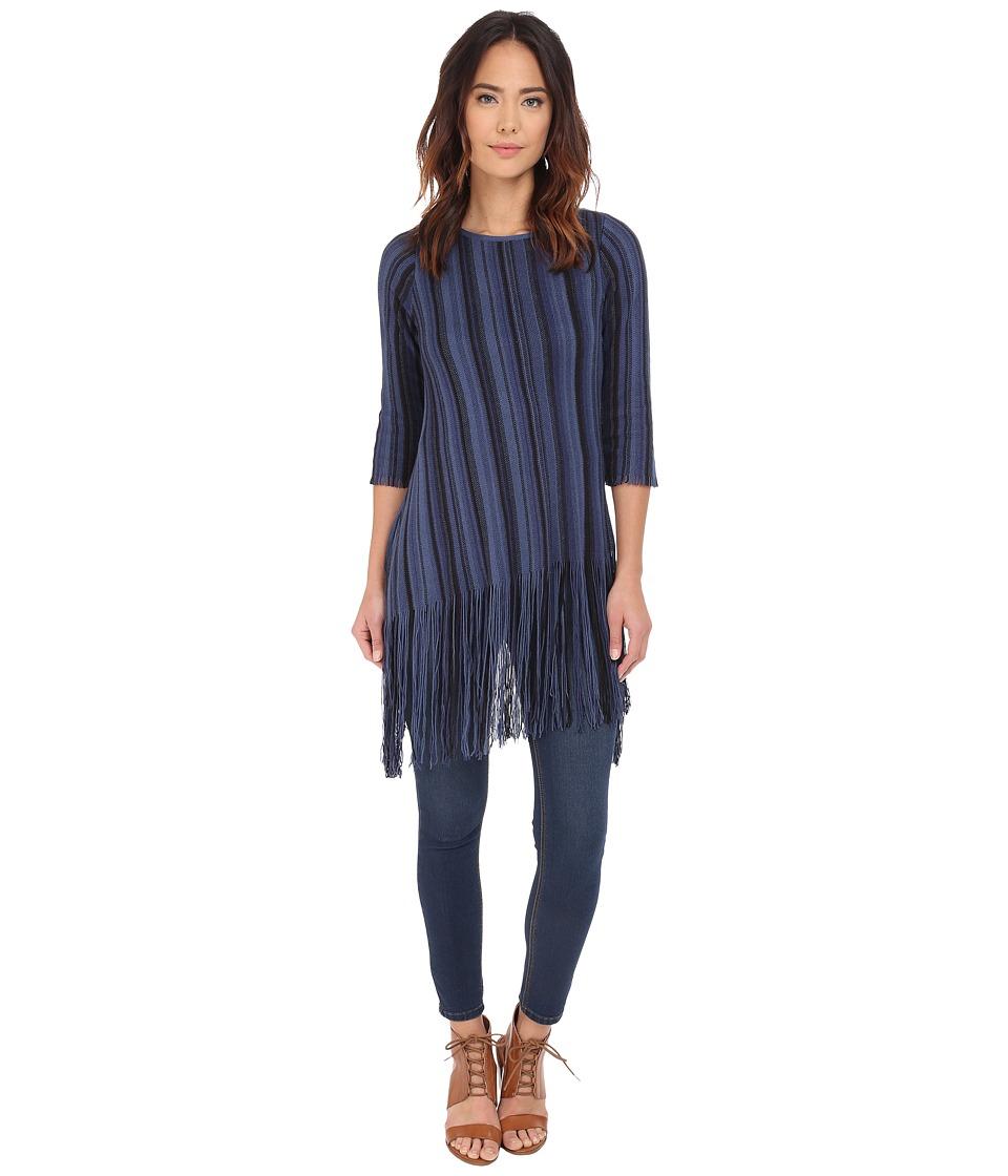 NIC+ZOE - Midnight Blues Top (Multi) Women's Sweater