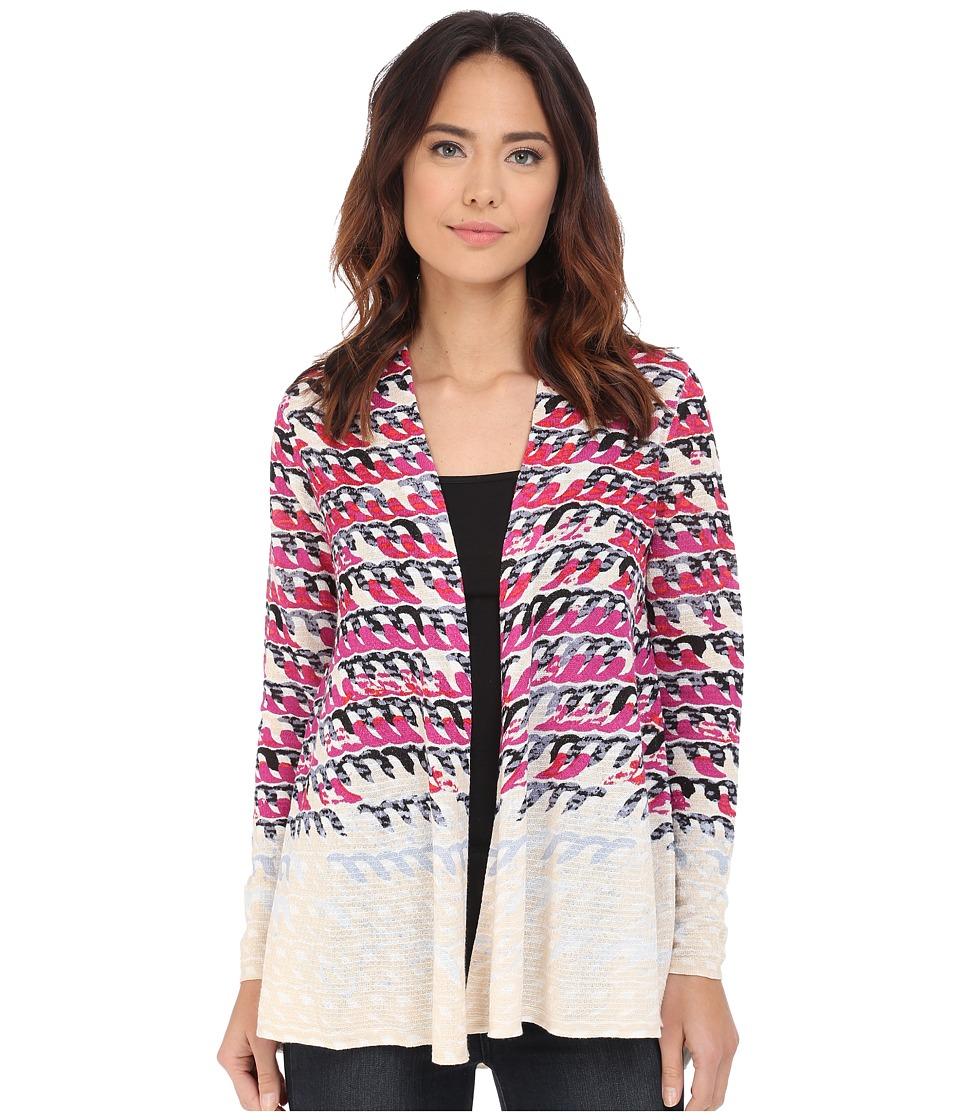 NIC+ZOE - Loop Print Cardy (Multi) Women's Sweater