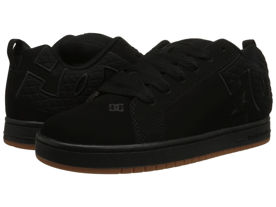 DC - Court Graffik SE (Black/Black/Gum) Men's Skate Shoes