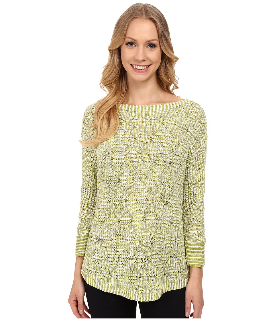 NIC+ZOE - Maze Top (Appletini) Women's Sweater