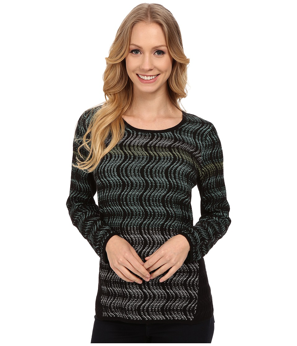 NIC+ZOE - Shaded Waves Top (Multi) Women's Short Sleeve Pullover