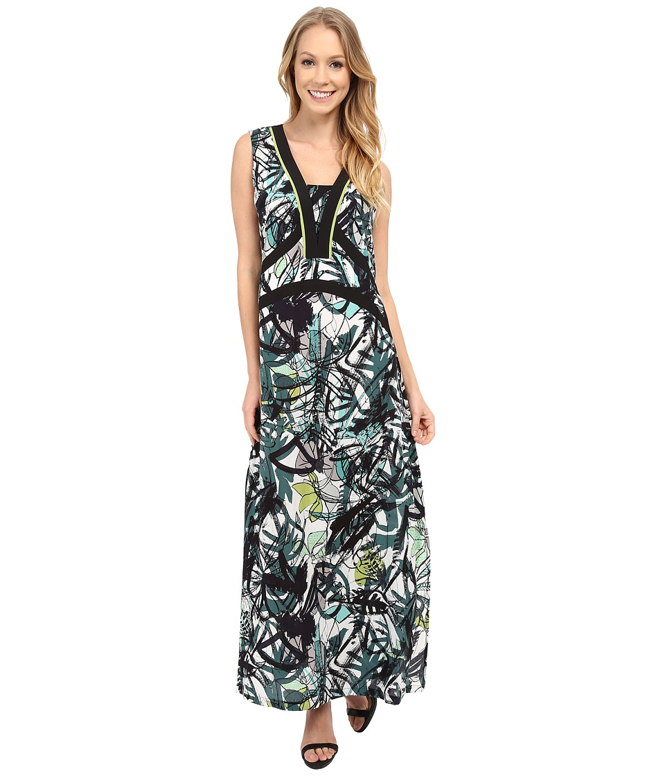 NIC+ZOE - Green Graffiti Dress (Multi) Women's Dress