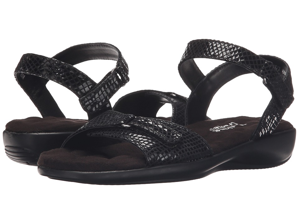 Walking Cradles - Sky-3 (Black Snake Print) Women's Sandals