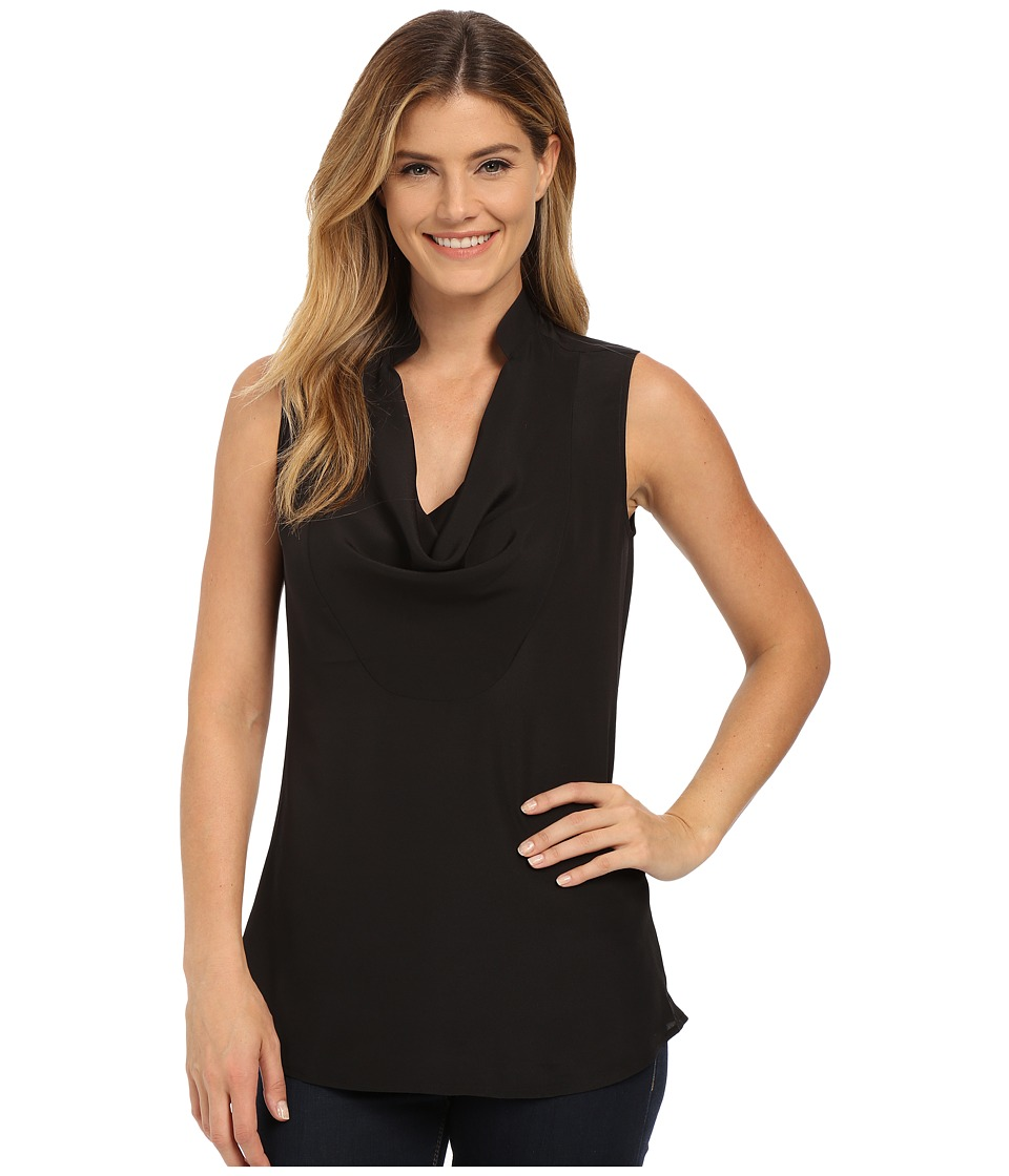 NIC+ZOE - Drape Neck Layer (Black) Women's Blouse