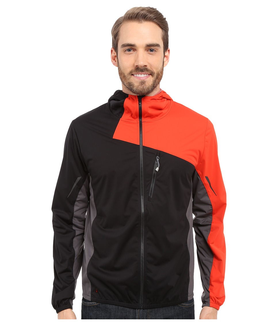 Spyder - Thasos Windbreaker Shell Jacket (Black/Volcano/Polar) Men's Coat