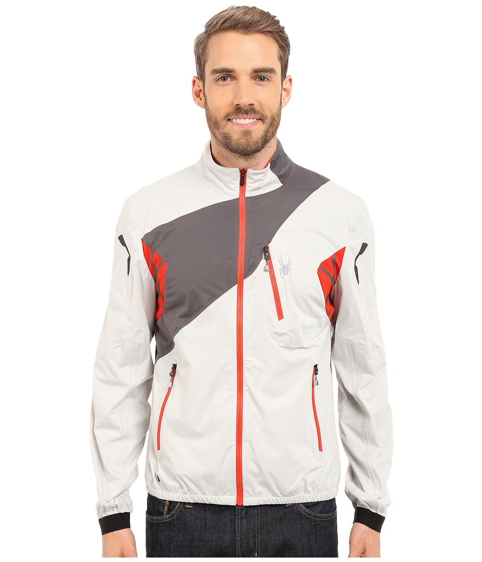 Spyder - Aramis Windbreaker Shell Jacket (Cirrus/Polar/Volcano) Men's Coat