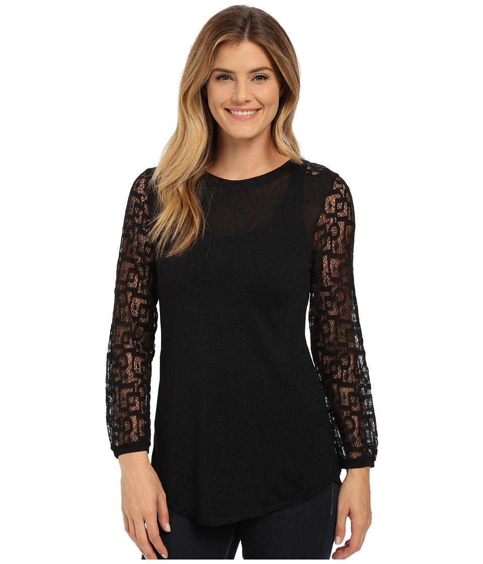 NIC+ZOE - Onyx Lace Top (Black Onyx) Women's T Shirt