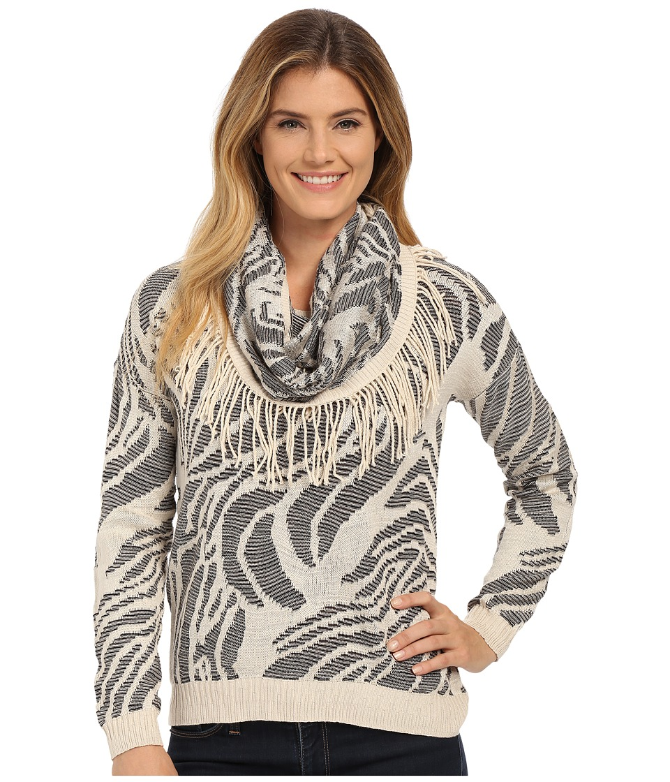 NIC+ZOE - Oasis Scarf Top (Sandshell Mix) Women's Sweater