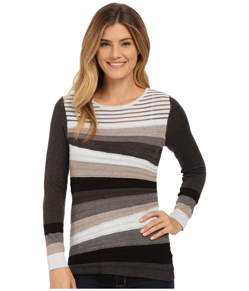 NIC+ZOE - Angled Lines Top (Multi) Women's Short Sleeve Pullover