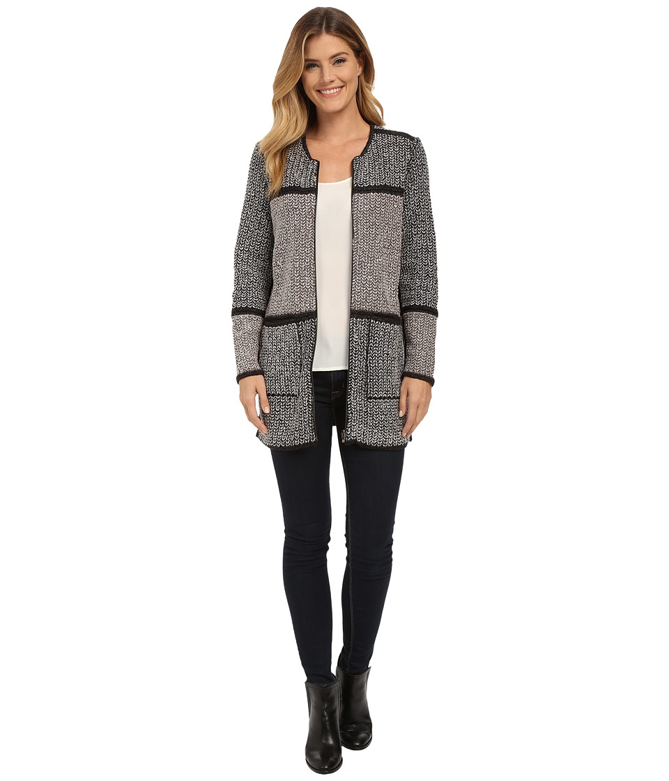 NIC+ZOE - Herringbone Fuzz Jacket (Multi) Women's Coat