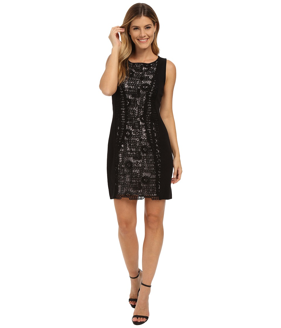 NIC+ZOE - Layered Lace Dress (Black Onyx) Women's Dress