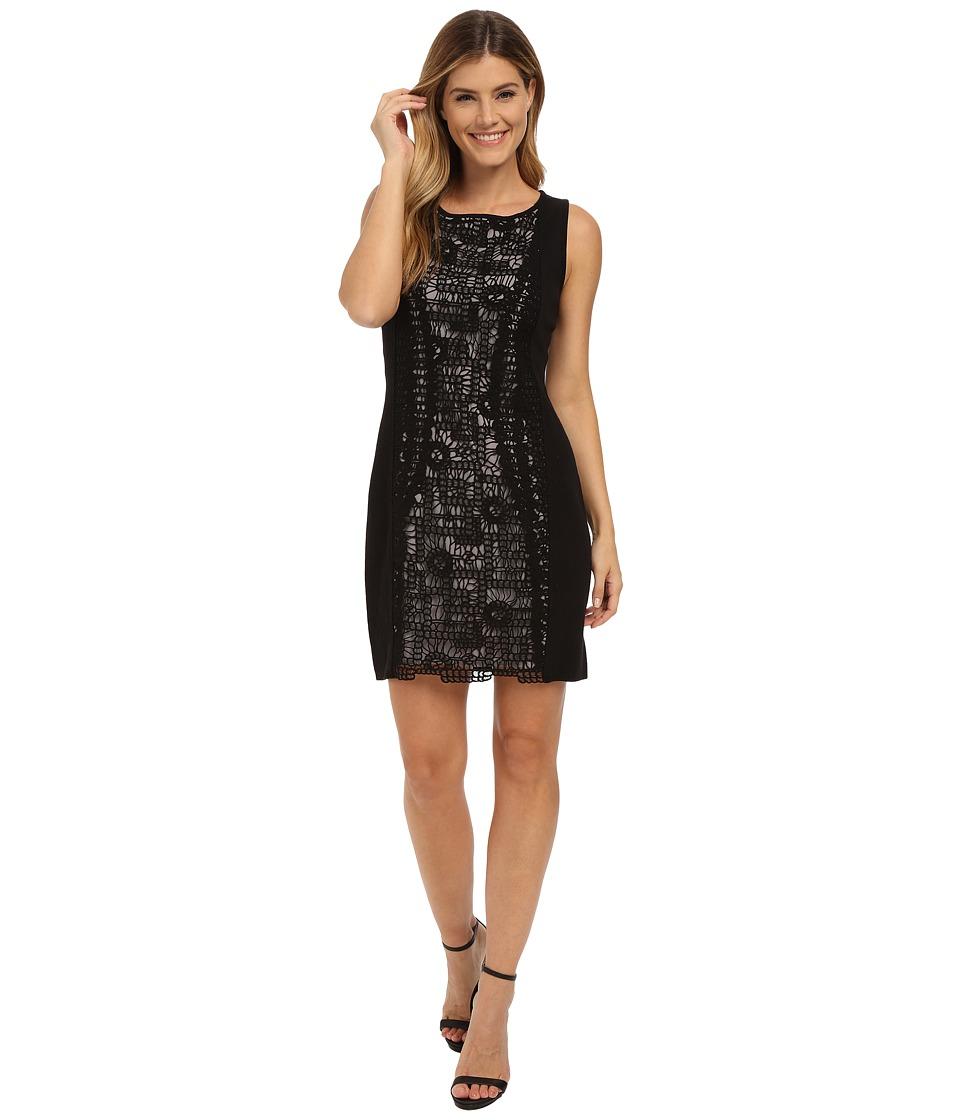 NIC+ZOE Layered Lace Dress (Black Onyx) Women