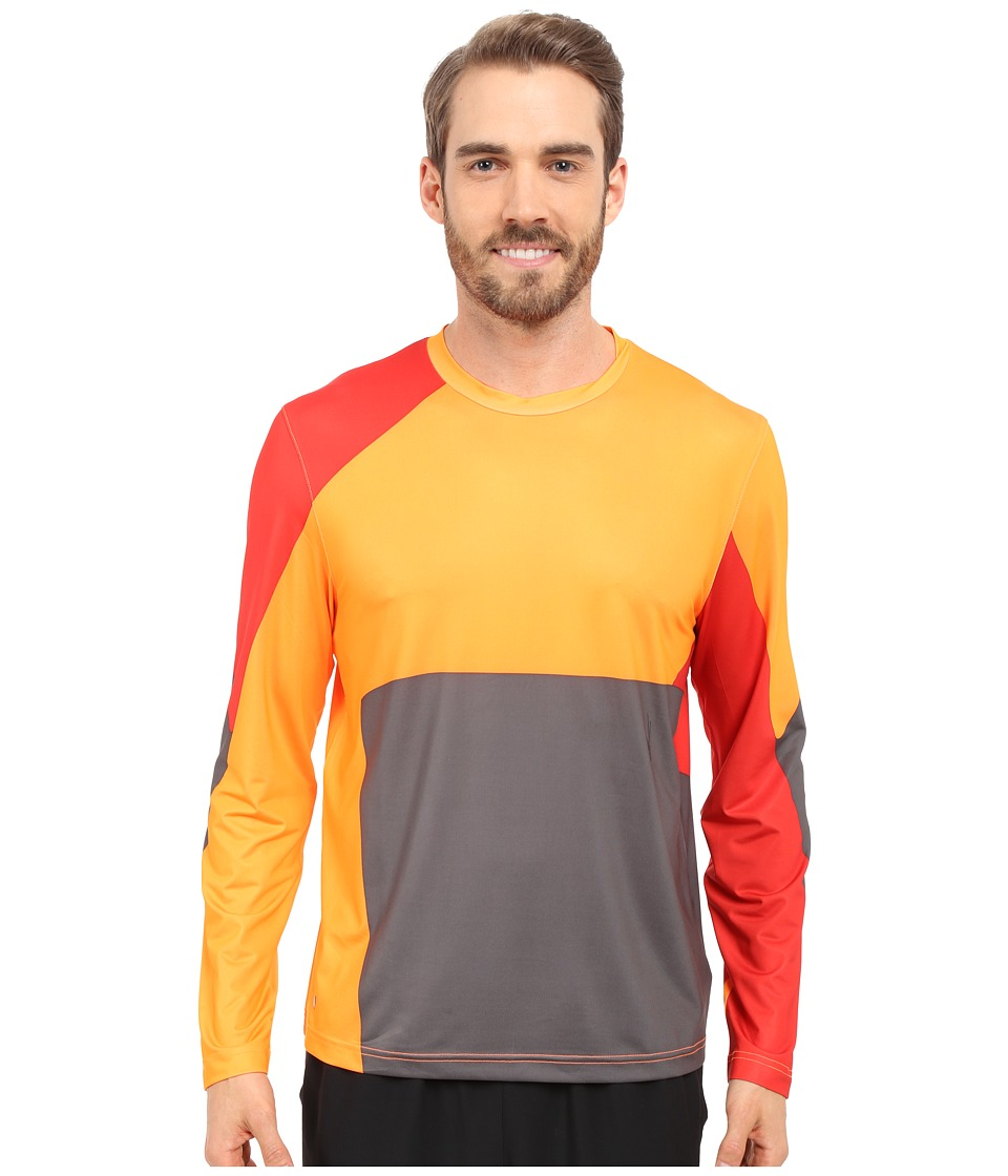 Spyder - Kyros Long Sleeve Shirt (Bright Orange/Volcano/Polar) Men's Long Sleeve Pullover