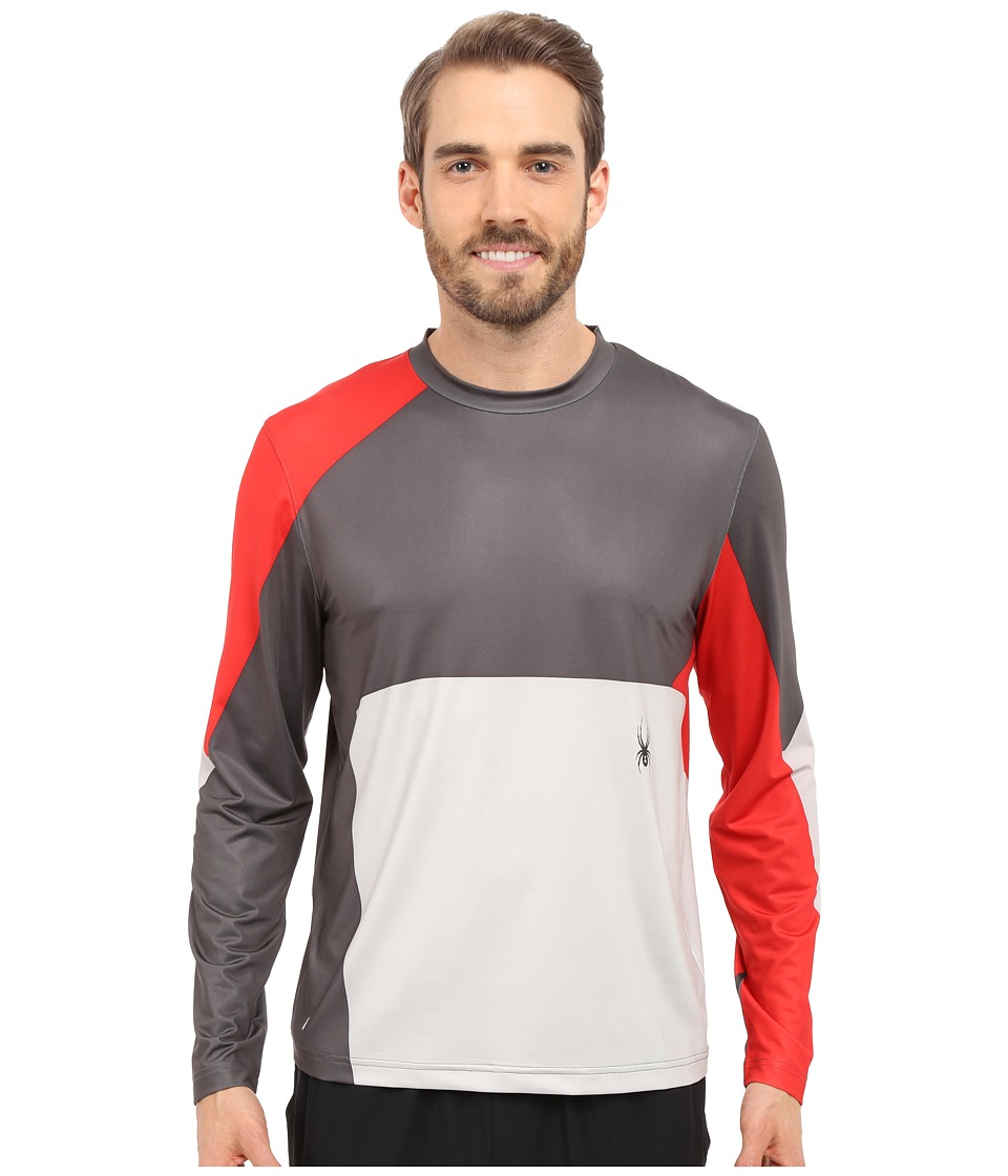 Spyder - Kyros Long Sleeve Shirt (Polar/Volcano/Cirrus) Men's Long Sleeve Pullover
