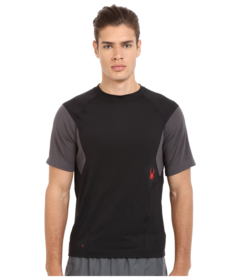 Spyder - Strabo Short Sleeve Shirt (Black/Polar) Men's Short Sleeve Pullover