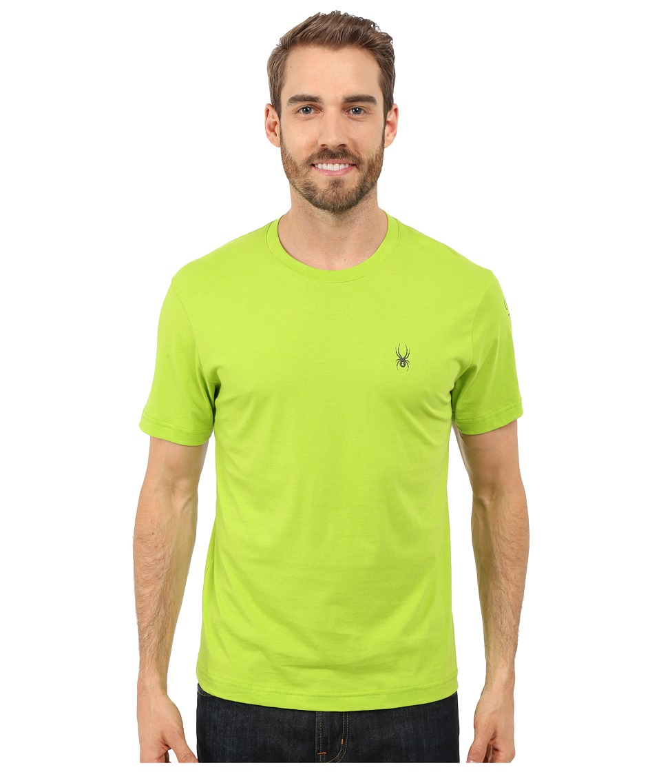 Spyder - Route Graphic Short Sleeve Shirt (Theory Green/Polar) Men's Long Sleeve Pullover