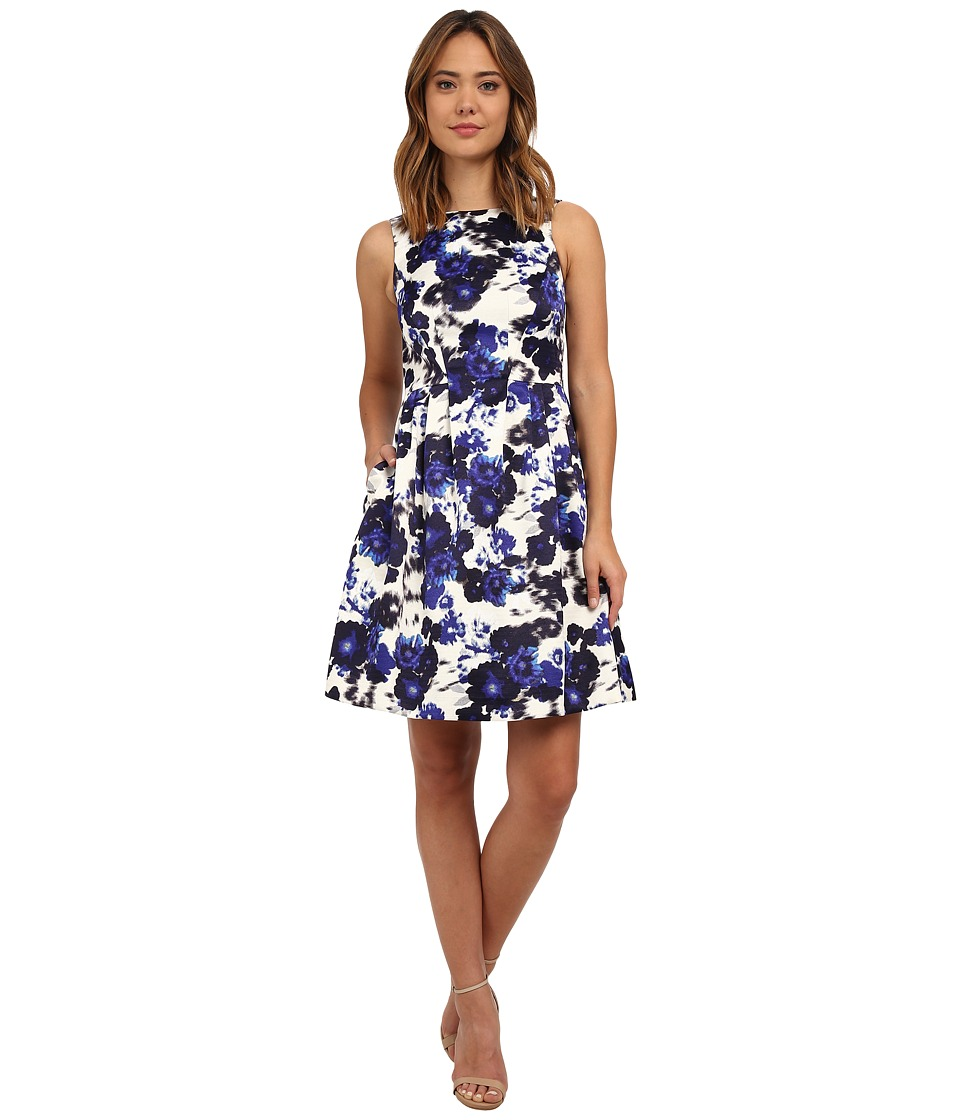 Vince Camuto - Sleeveless Fit Flare Dress (Navy/Ivory) Women's Dress