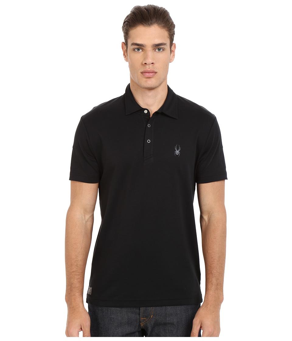 Spyder - Option Polo (Black) Men's Short Sleeve Pullover