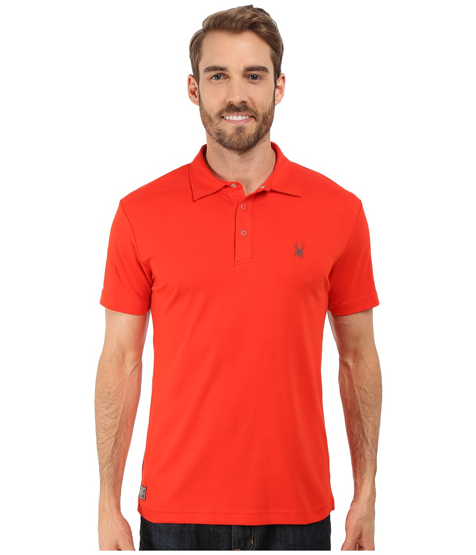 Spyder - Option Polo (Electric Blue) Men's Short Sleeve Pullover