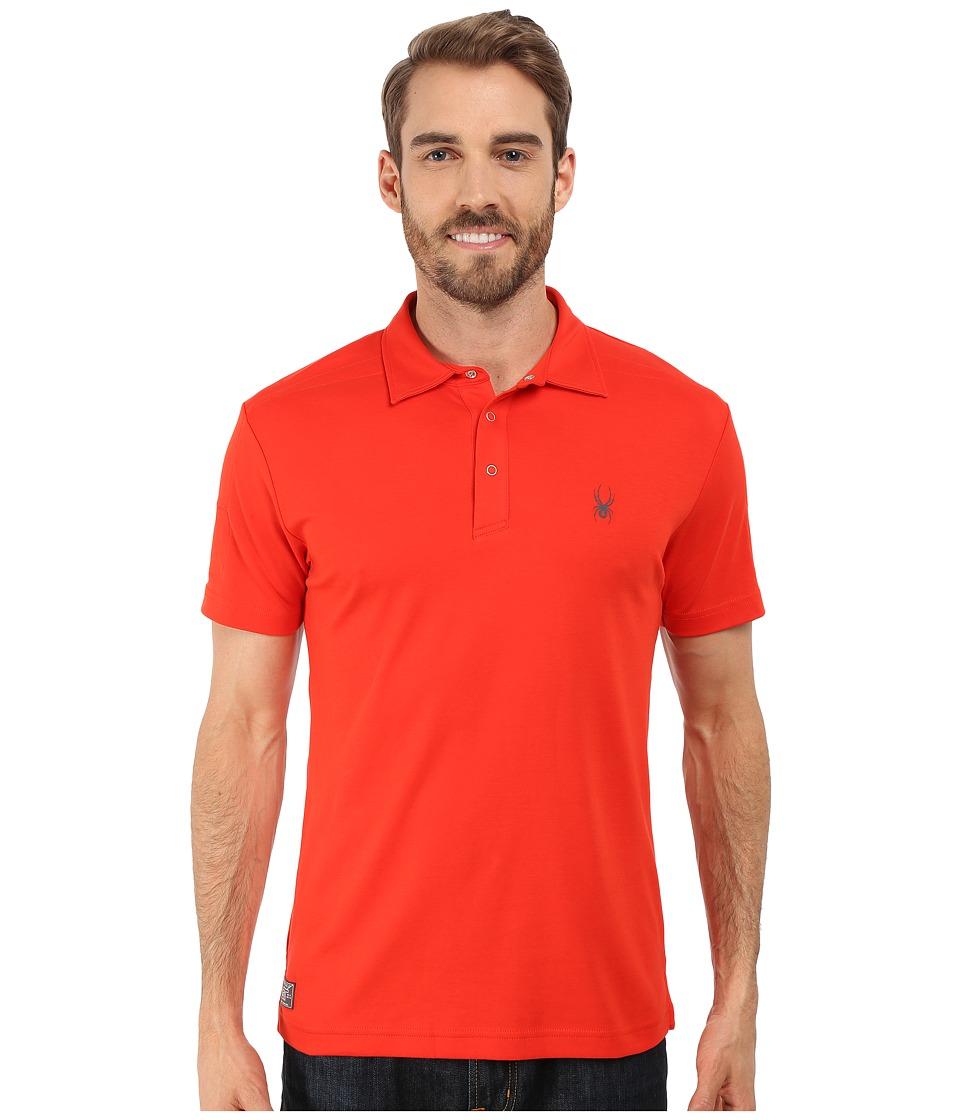 Spyder - Option Polo (Volcano) Men's Short Sleeve Pullover