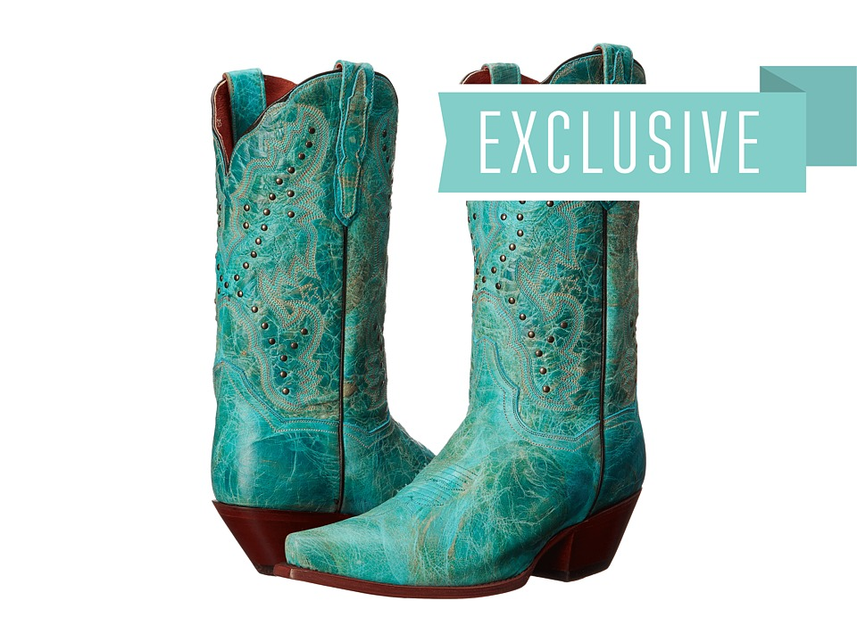 Dan Post - Capri (Distressed Turquoise) Cowboy Boots