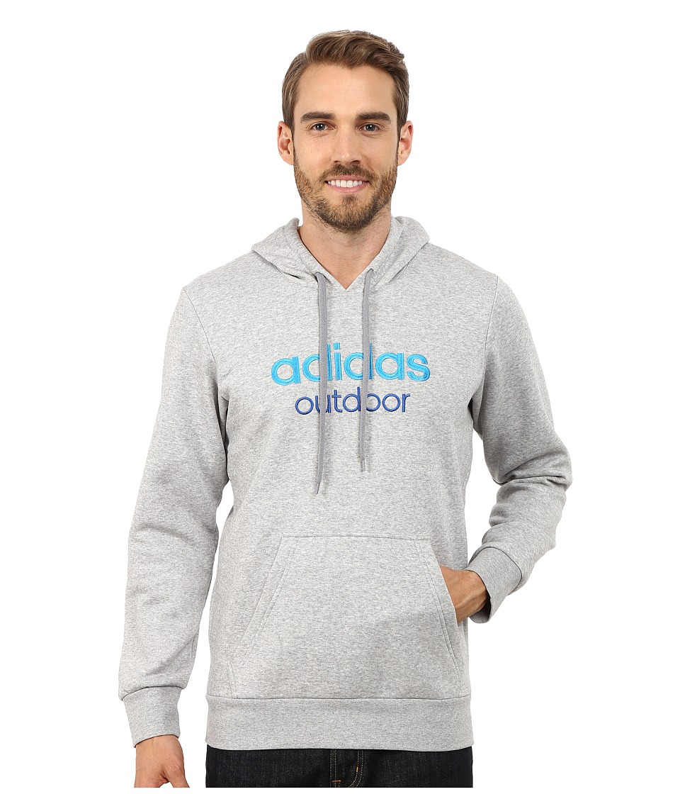 adidas Outdoor - Adidas Outdoor Hoodie (Medium Grey Heather) Men